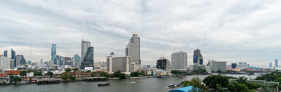 Aussicht vom Iconsiam River Park.