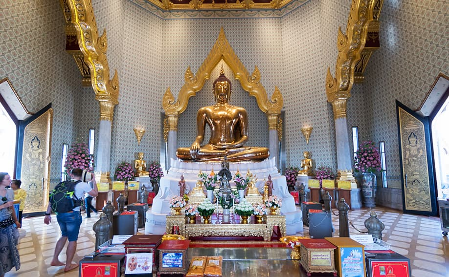 Golden Buddha Wat Traimit Chinatown.