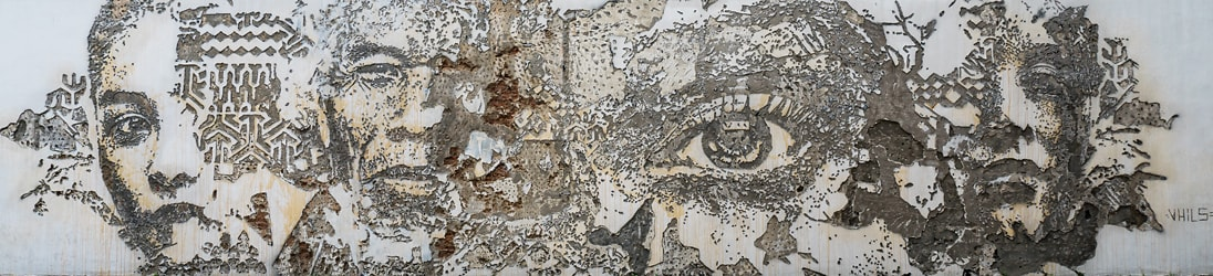 Street Art Bangkok - Scratching the Surface von Alexandre Farto alias VHILS.