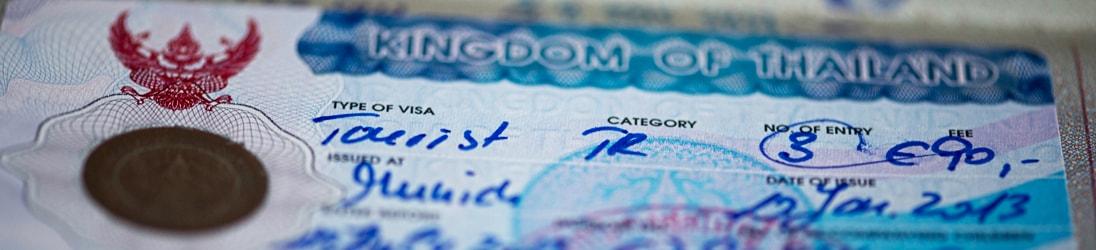 Touristenvisum Thailand - Aufkleber im Reisepass