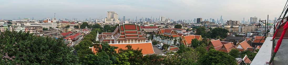 Aussicht vom Wat Saket (golden mount) in Bangkok.