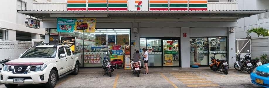 7 Eleven Supermarkt in Bangkok.
