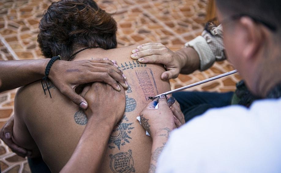 Bamboo Tattoo Thailand Sak Yant Wai Khru Festival