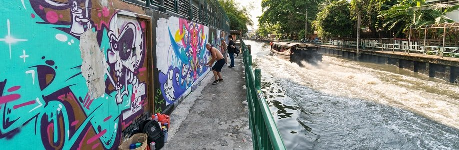 Sprayer am Khlong Saen Saep.
