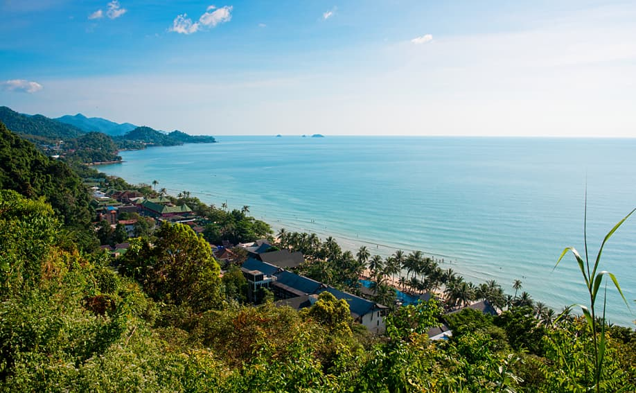 Koh Chang in Trat - White Sand Beach View Point.