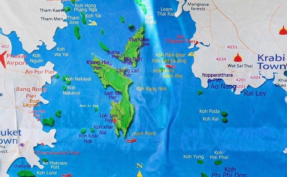 Carte Thailande Koh Yao Yai.Koh Yao Yai Strande Aktivitaten Und Reiseinformationen