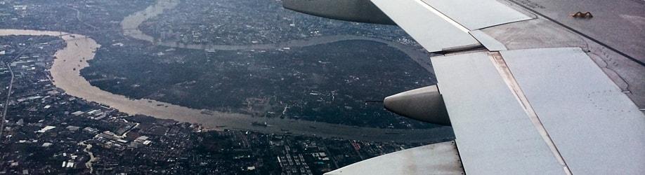Flug über Bangkok
