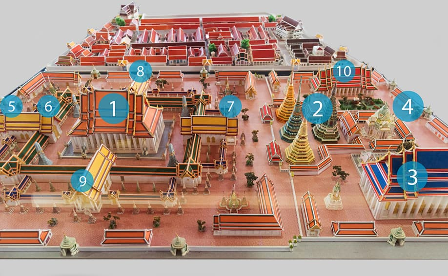 Plan vom Wat Pho in Bangkok.