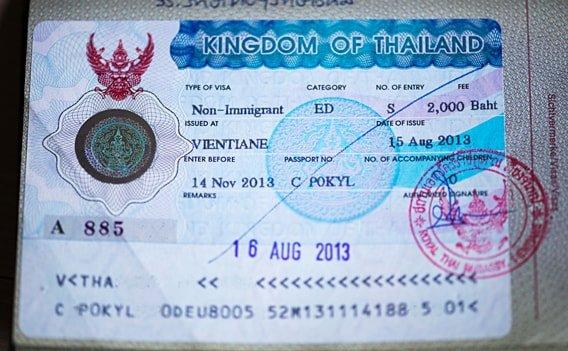 Non-Immigrant Visa - Das ED-Visum für Thailand in meinem Reisepass