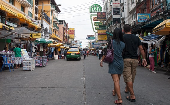 Khao San Road bei Tag.